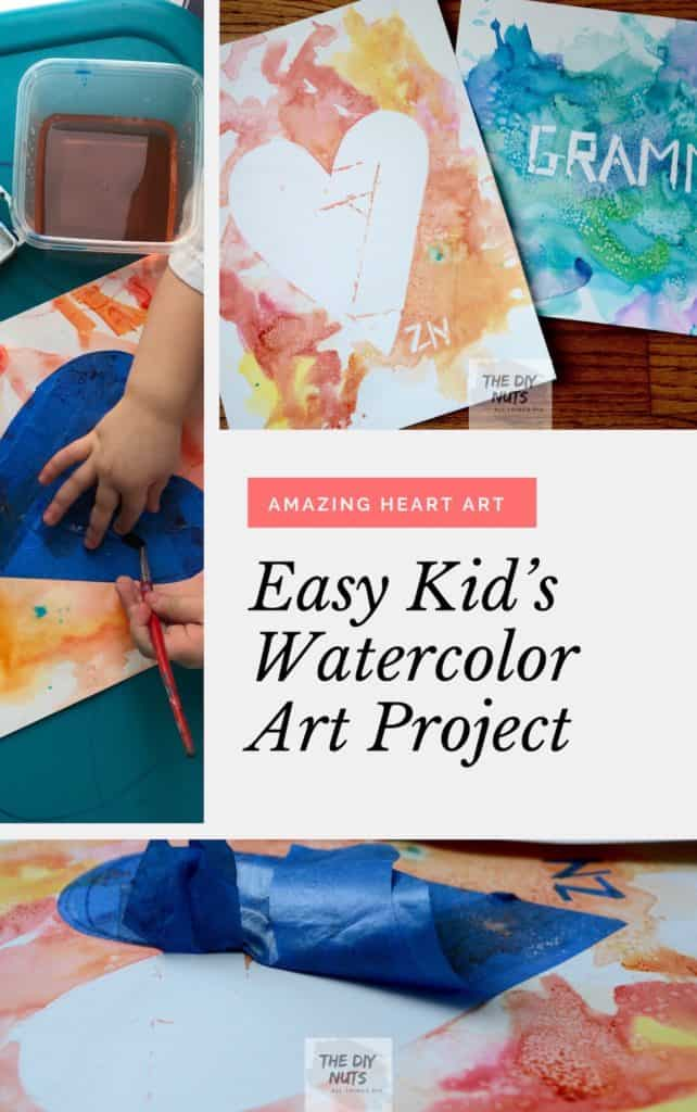 How to create an easy watercolor art project kids