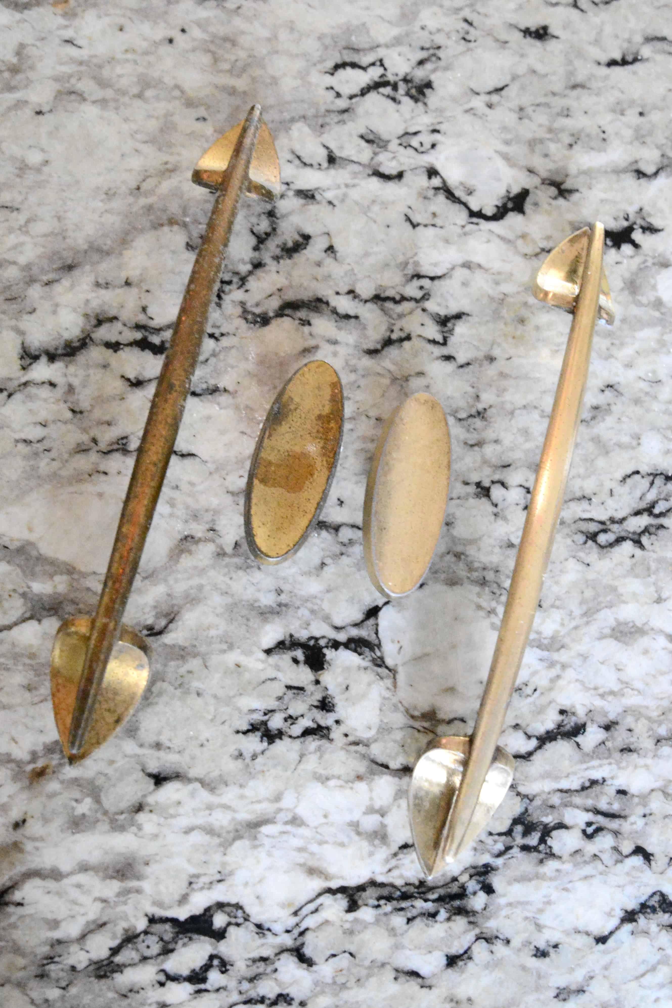 DIY Natural Brass Cleaner for Dresser Hardware