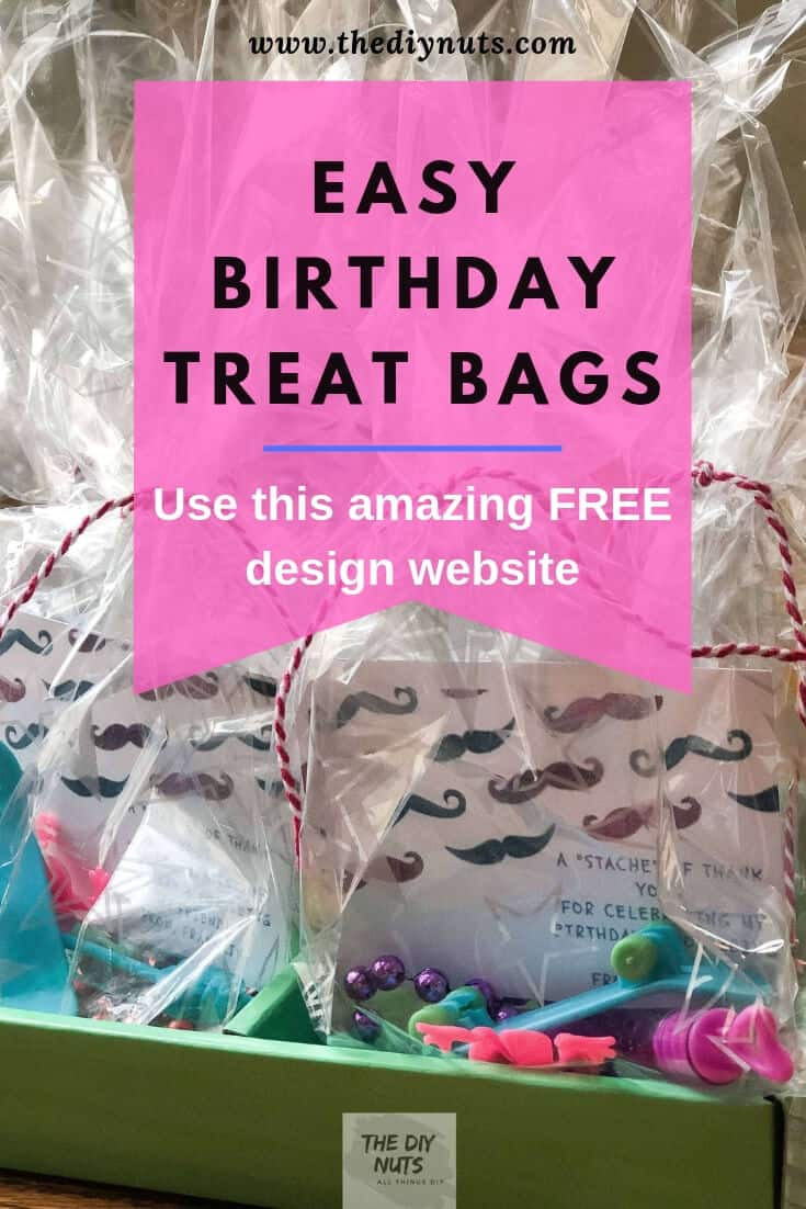 Birthday Treat Bags with Use this amazing FREE design website wording