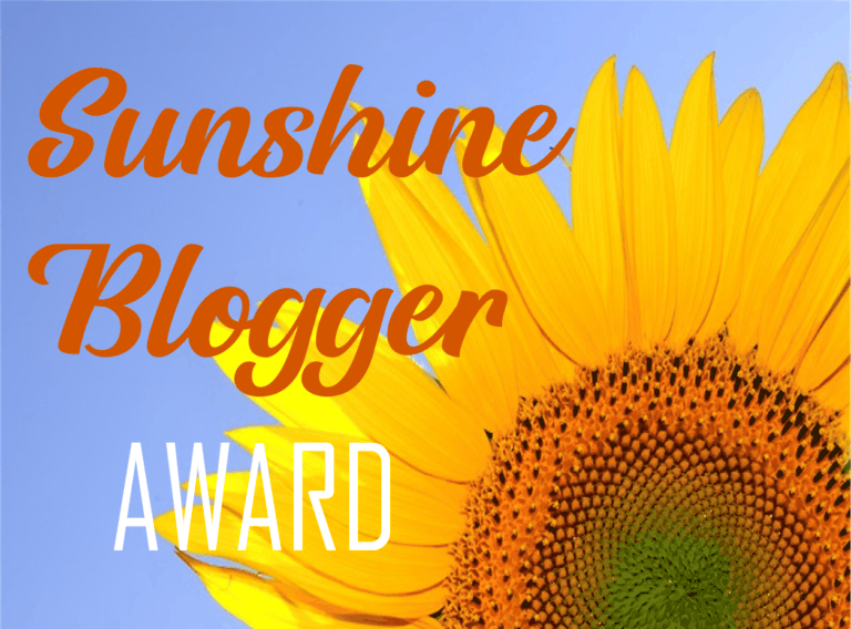 Picture of Sunflower with Sunshine Blogger Award