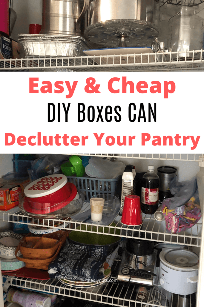 Easy & Cheap DIY Boxes to declutter your pantry