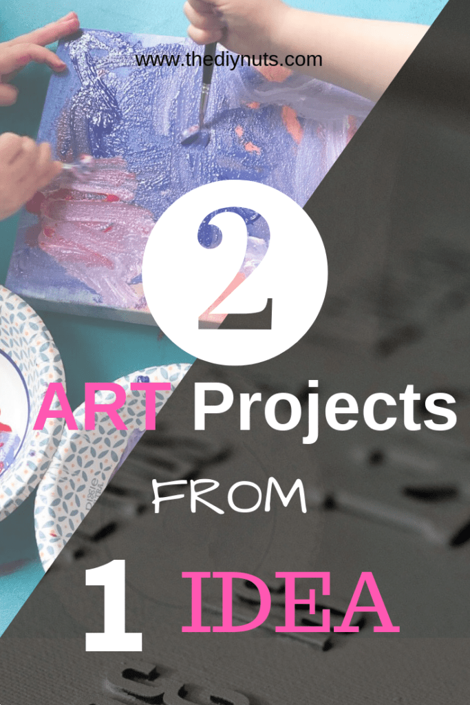 DIY Word canvas for adults and kids: 2 art projects from 1 idea