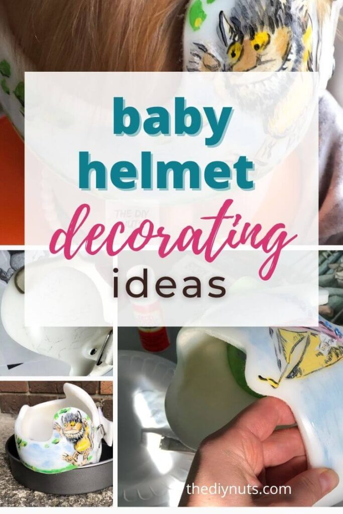 baby helmet decorating ideas with in progress decorated doc band pictures