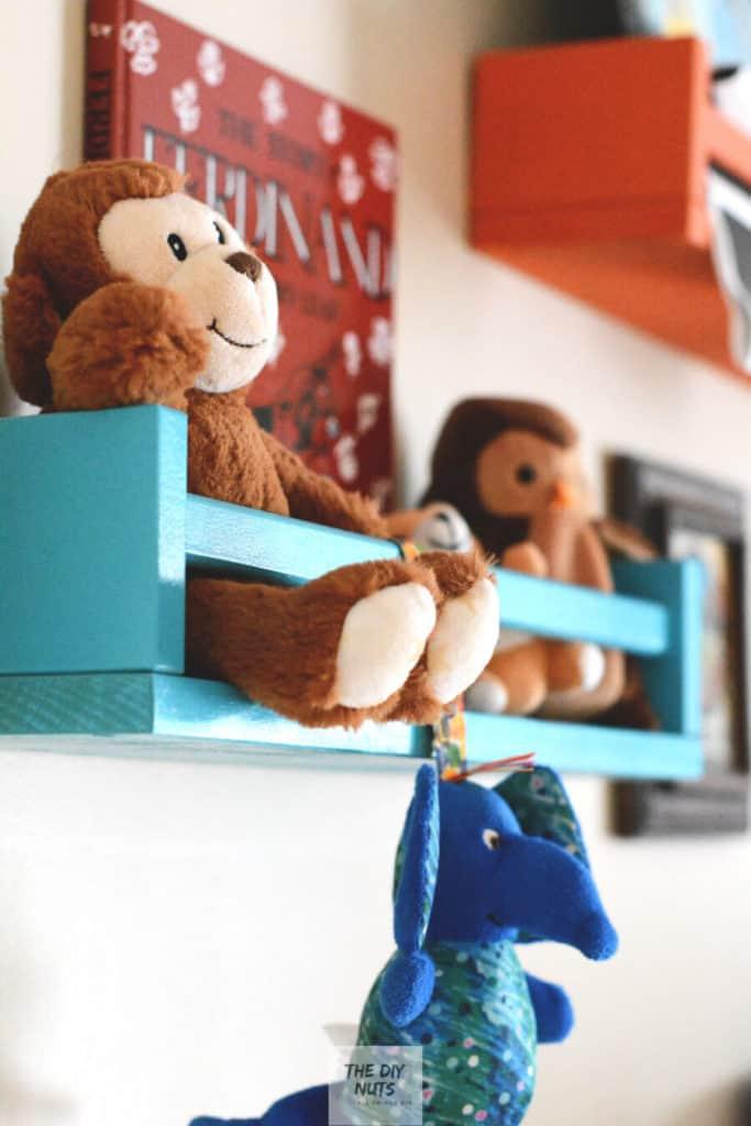 Spice racks used for DIY baby nursery ideas