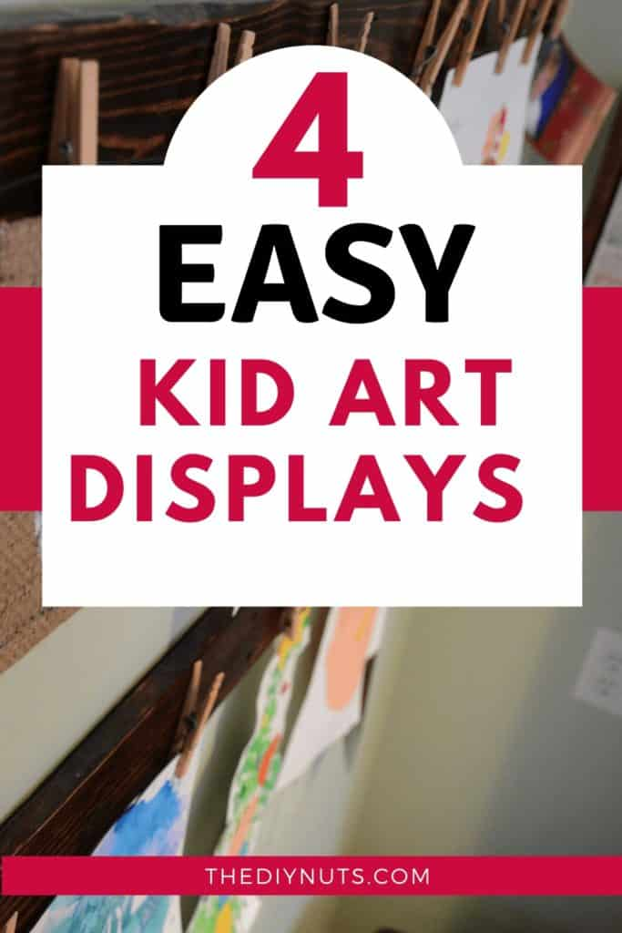 Easy Kid Art Displays