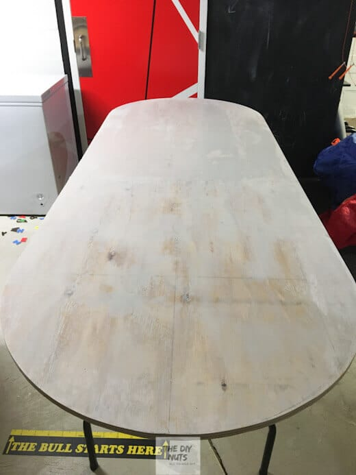 Curved plywood cut for table top