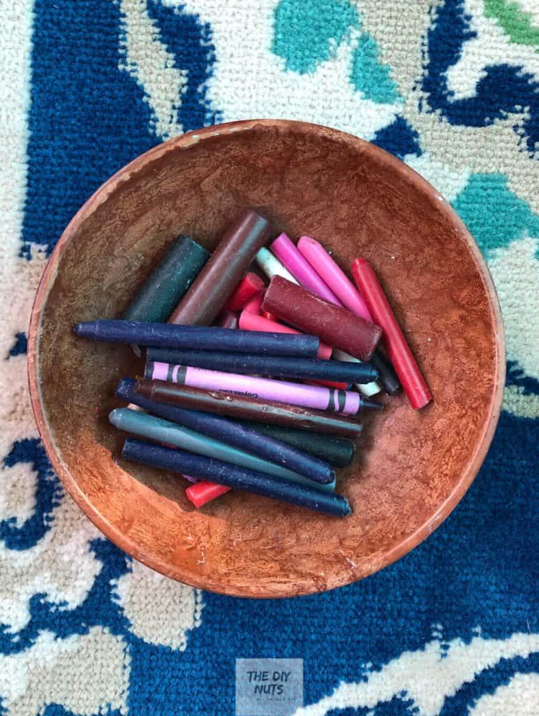 Peeled Crayons for DIY artwork