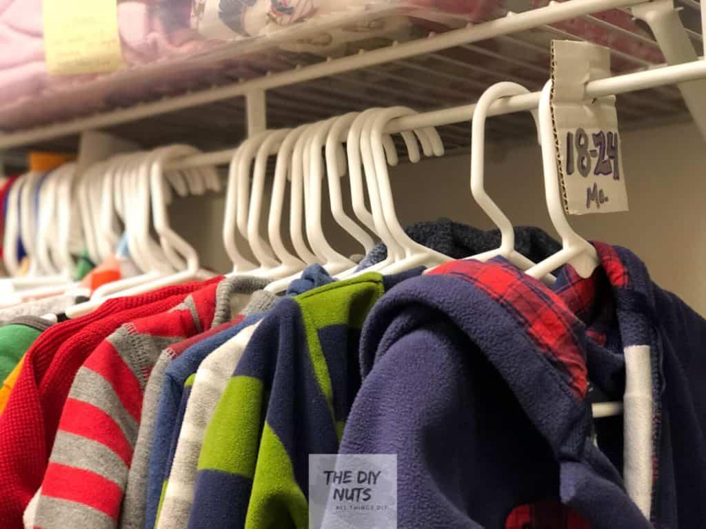 DIY Baby Closet Organization ideas