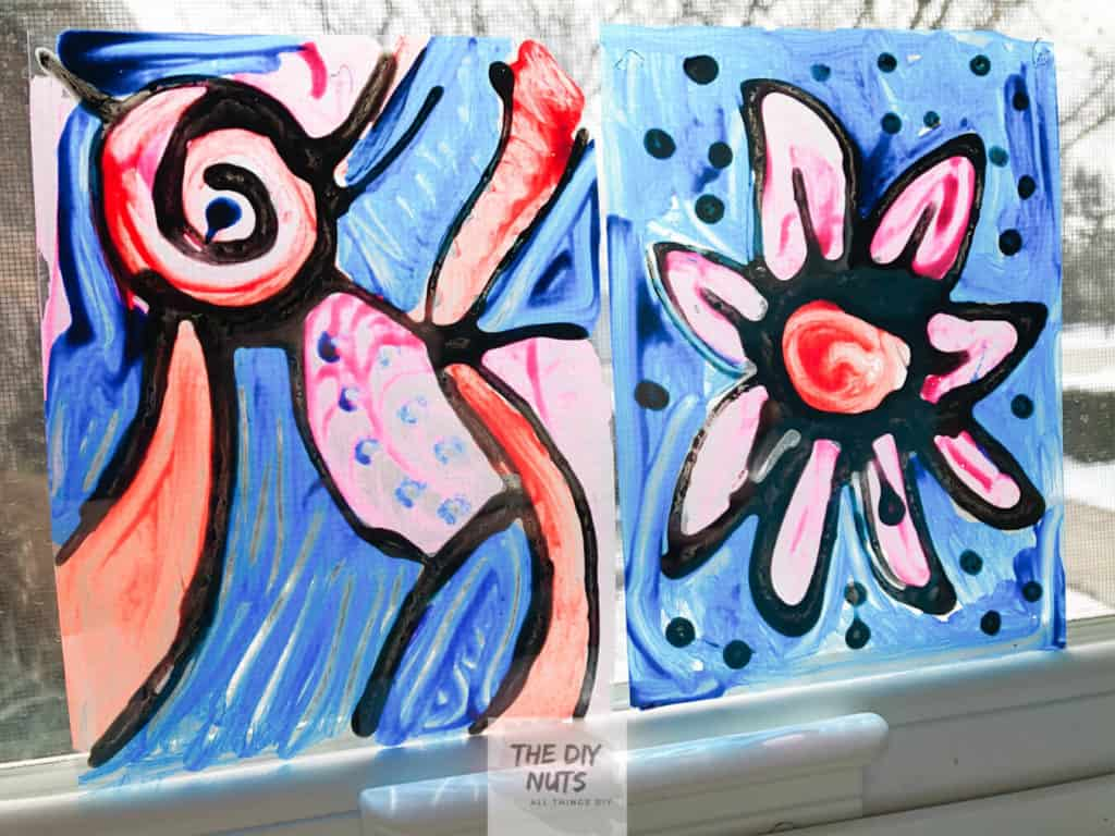 DIY Stained glass art project for kids