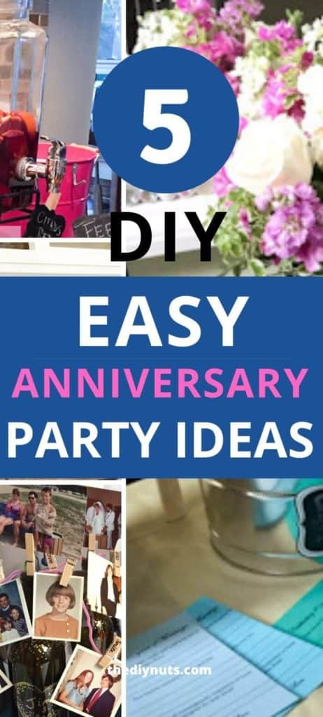 Easy DIY Wedding Anniversary Party Ideas