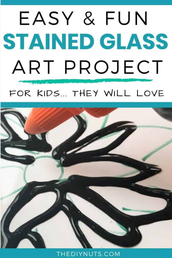 Easy and fun stained glass art project for kids