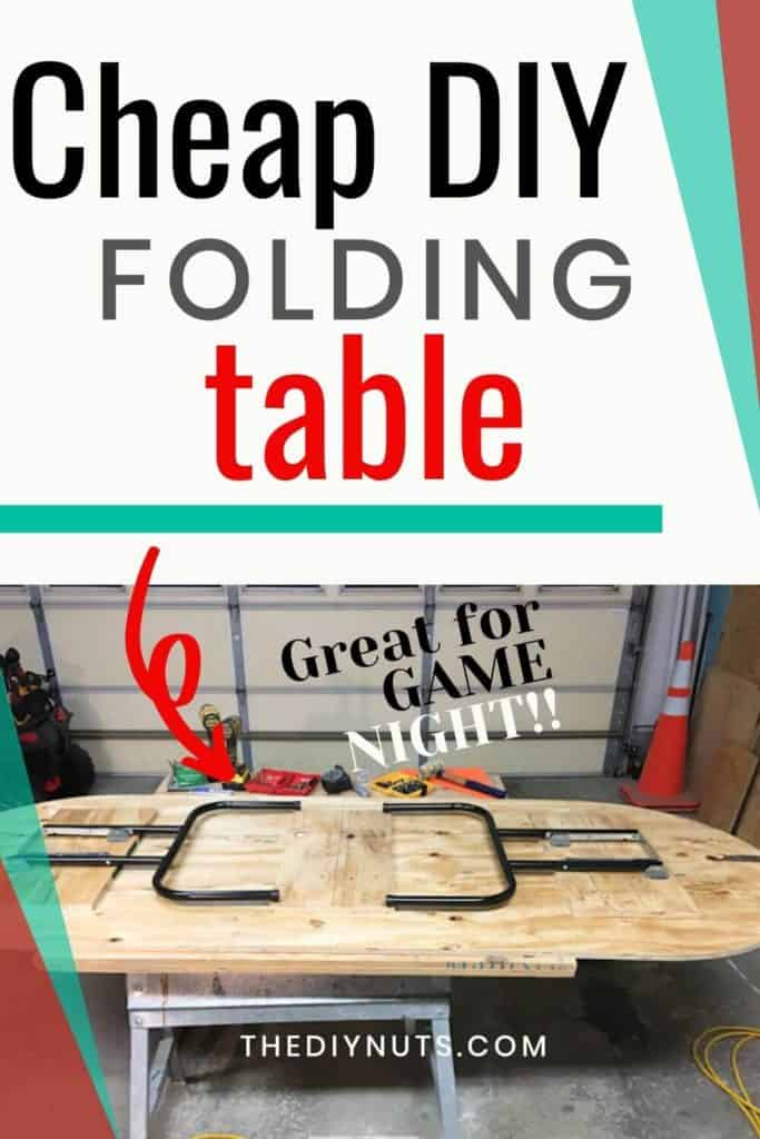 Cheap DIY folding table with picture of DIY folding table
