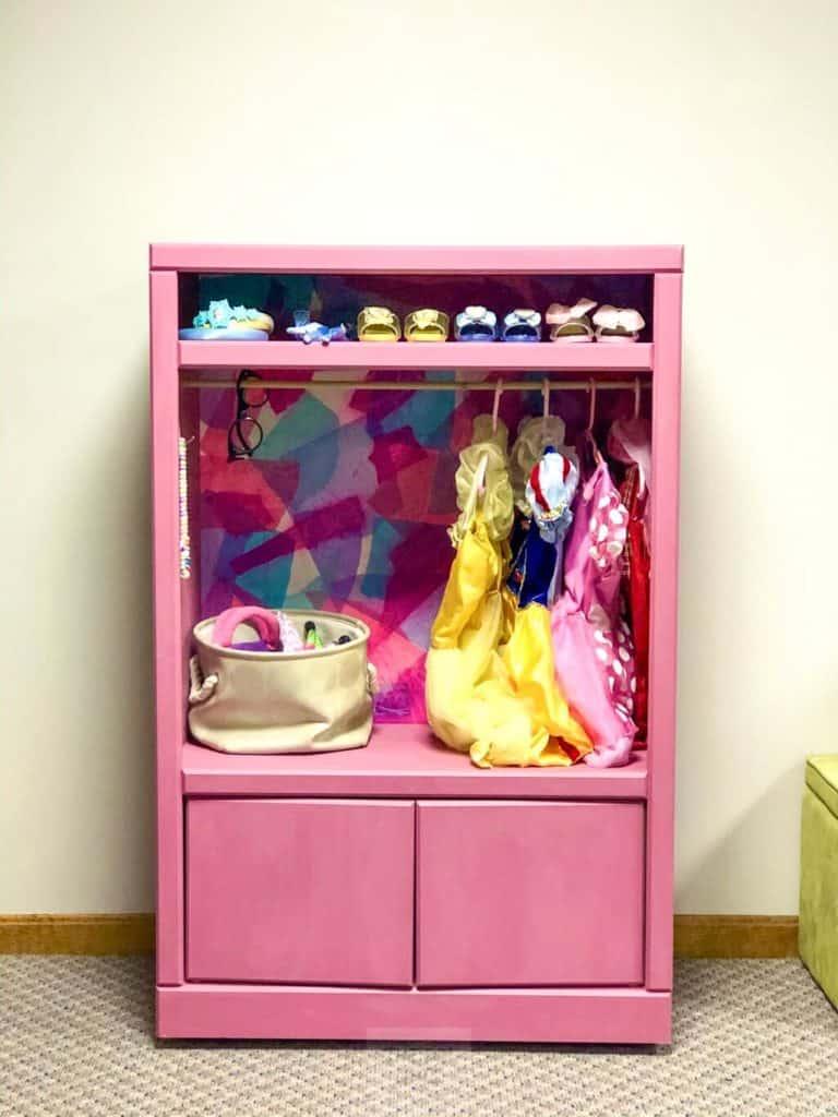 Children's dress-up wardrobe