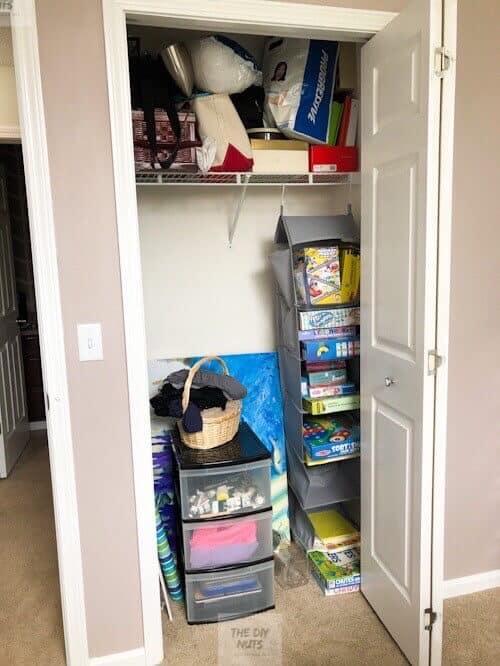Unorganized small closet