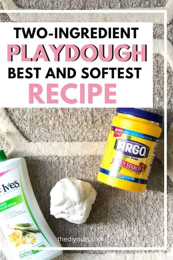 Two-ingredient playdough best and softest recipe
