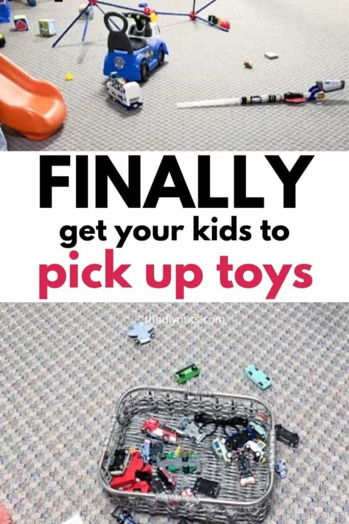 Finally get your kids to pick up toys