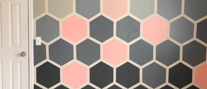 DIY Hexagon Accent Wall Idea