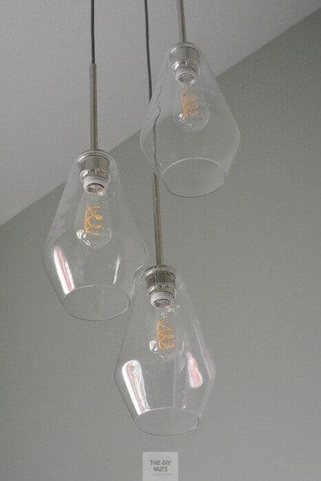 Sculptural Glass 3-Light Chandelier
