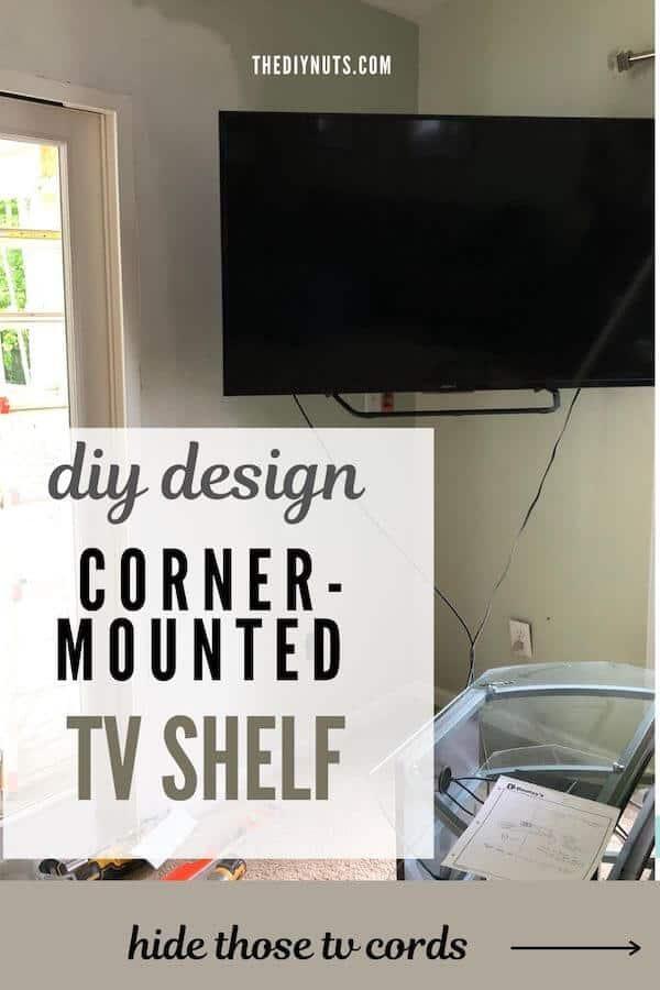 Corner-mounted TV Shelf