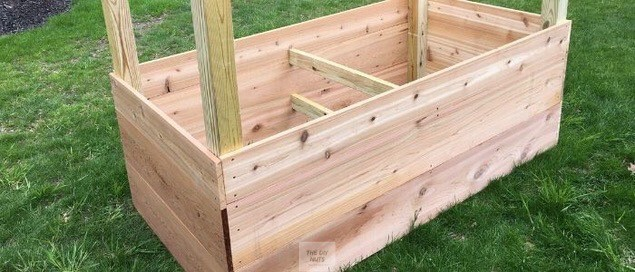 DIY raised cedar planter box