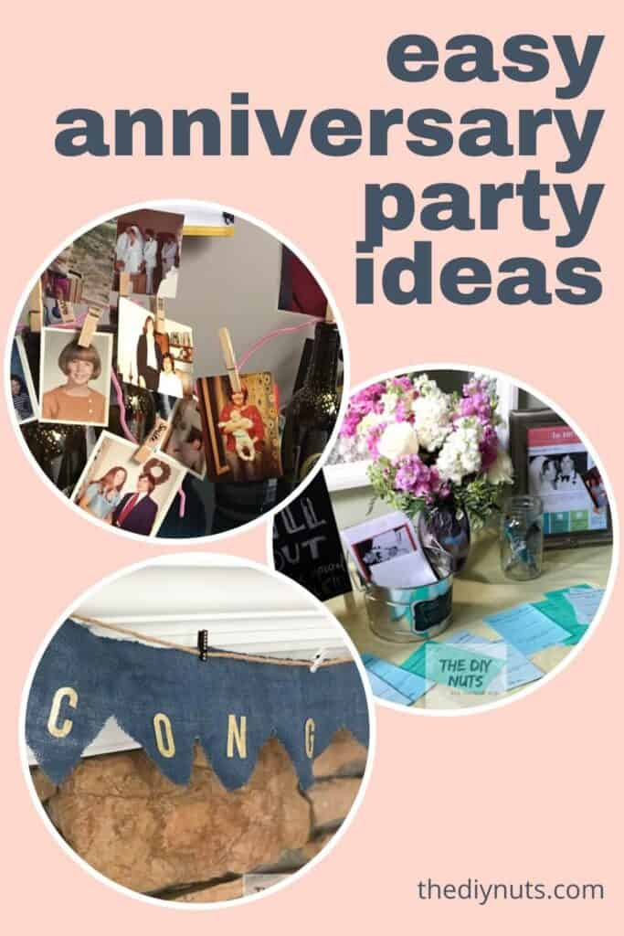 Easy anniversary party ideas