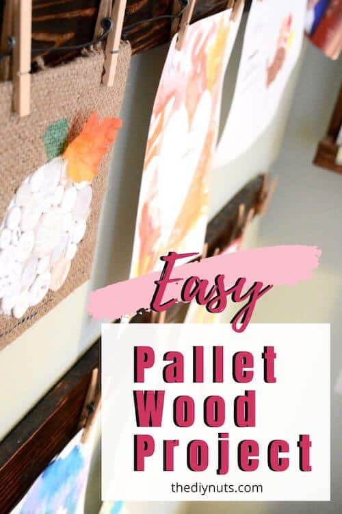 Easy Pallet Wood Project Art Display