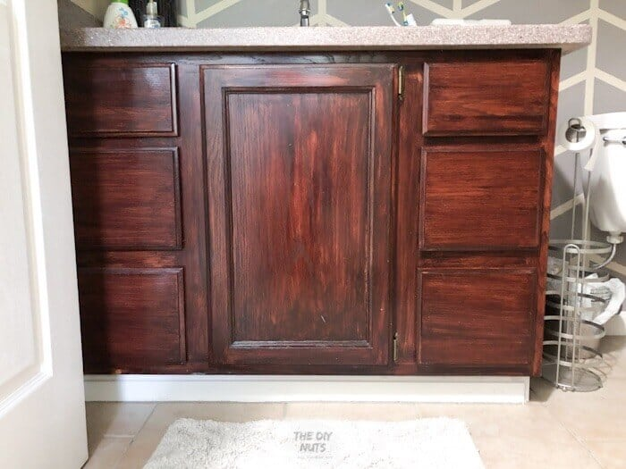 Gel Stained Cabinets