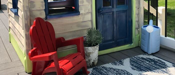 Painted Plastic Outdoor House Makeover