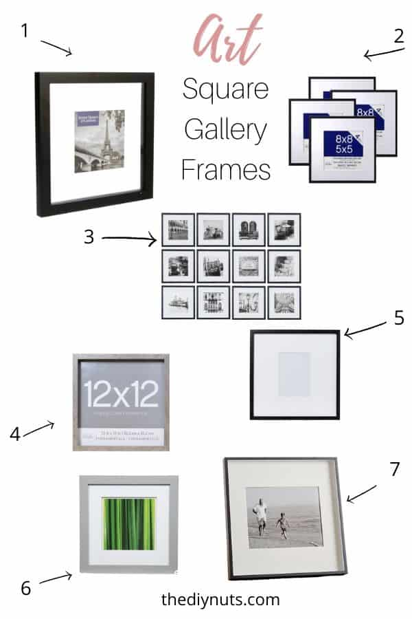 square wall gallery frames to buy