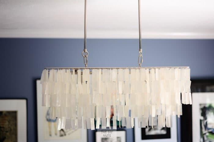 Hanging Rectangle Capiz Shell Chandelier