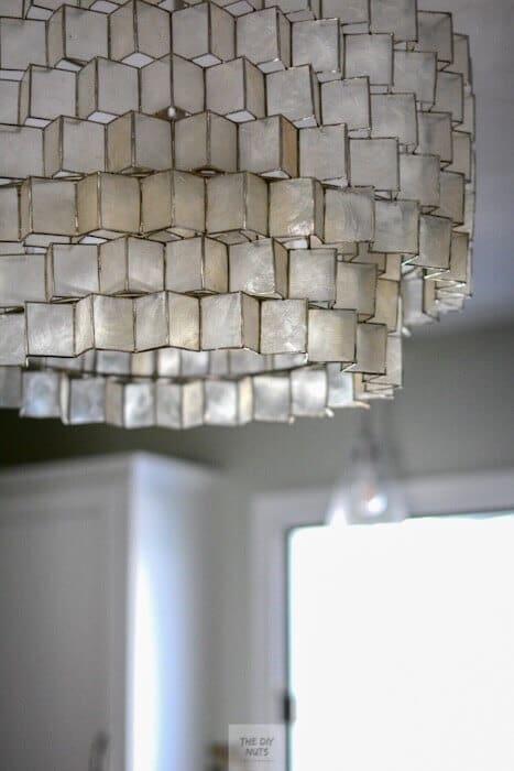 Zig zag capiz shell chandelier from West Elm