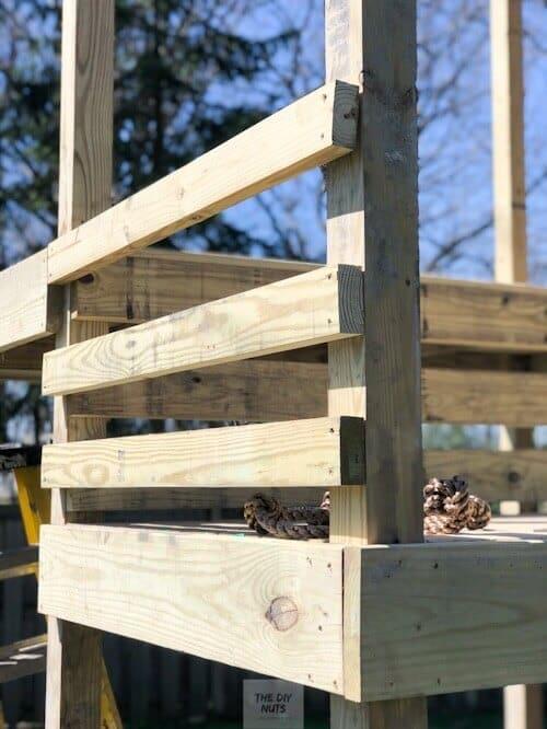 DIY handrail for backyard playground