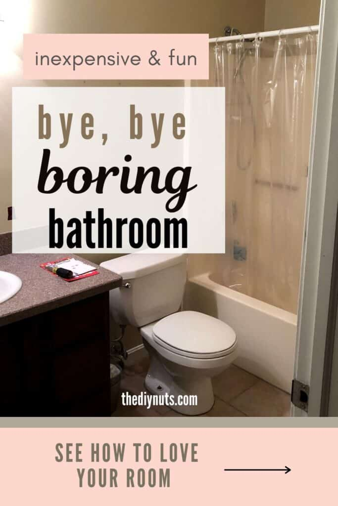 Bye bye boring bathroom before small bathroom makeover