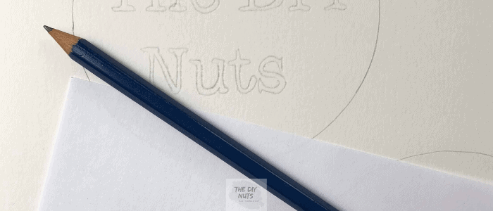 DIY lettering transfer idea with pencil