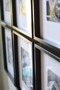 DIY Square Black Picture Frames Wall Gallery