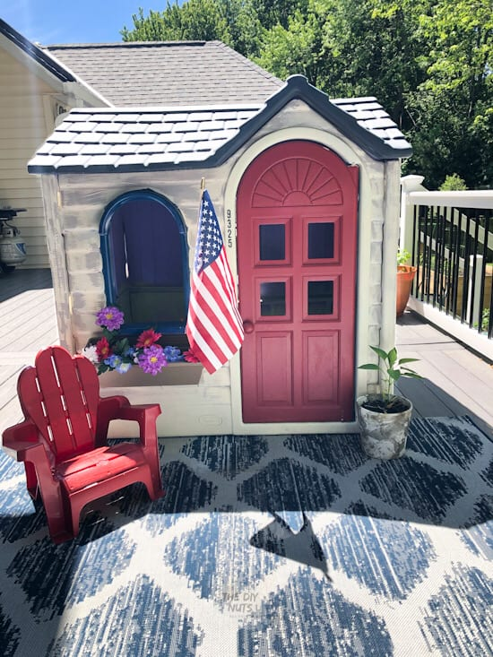Little Tikes Playhouse makeover with different colors