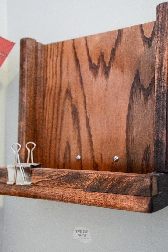DIY Pallet Wood Mail Holder
