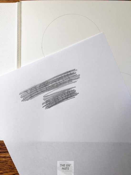Graphite on the back of print out letters