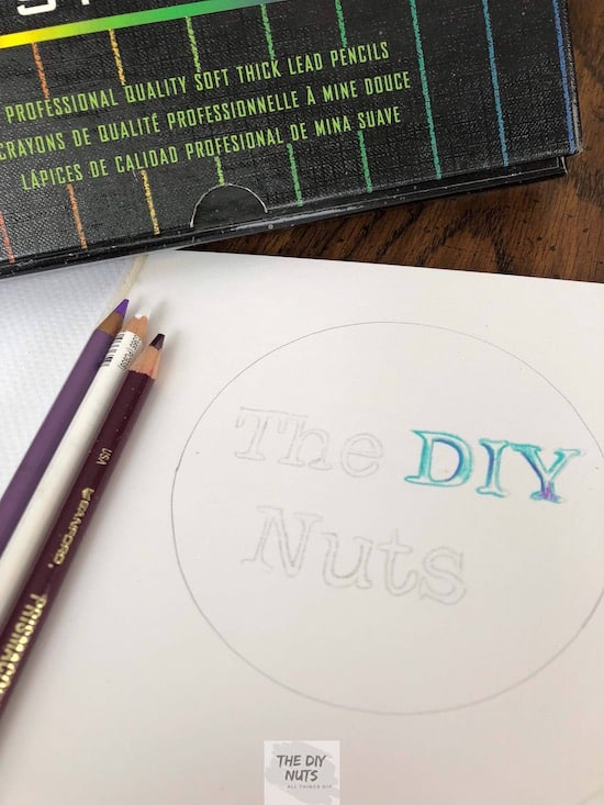 Colored pencils used in DIY lettering