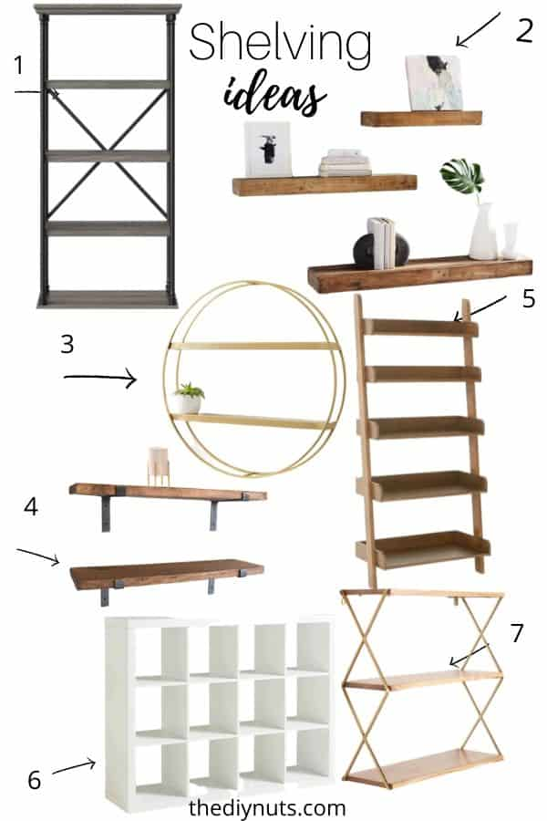 7 different types of shelving to buy