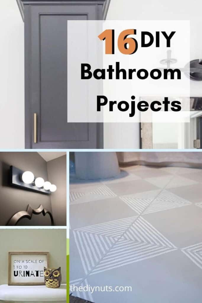 16 DIY Bathroom Projects