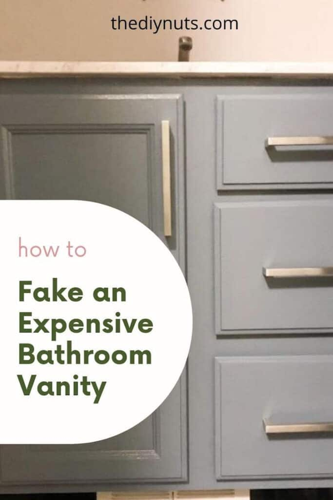 How to Fake an expensive bathroom vanity with painted vanity