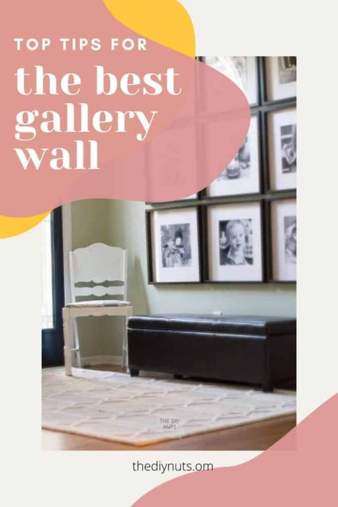 The Best Gallery Wall with square black picture frames