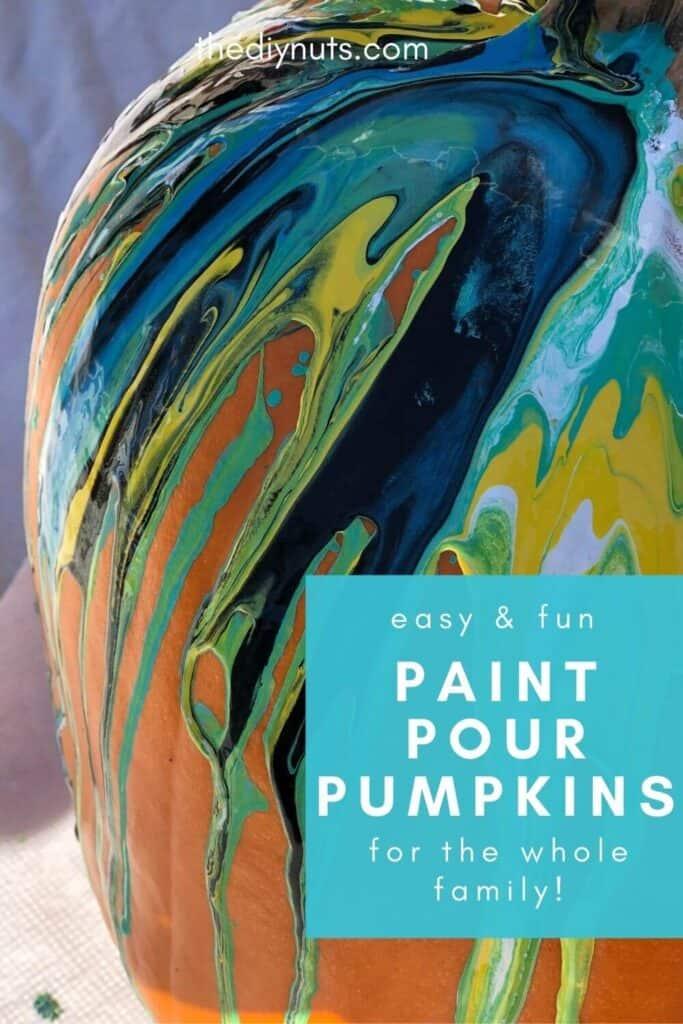 Paint Pour Pumpkins
