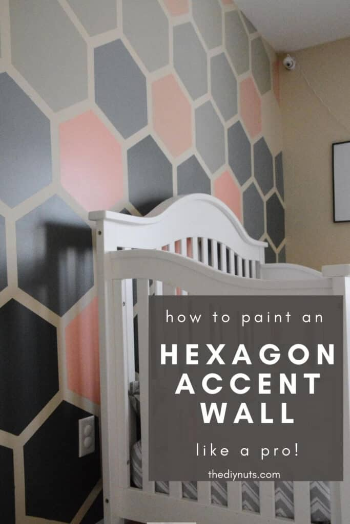 Hexagon Accent Wall in girl nursery