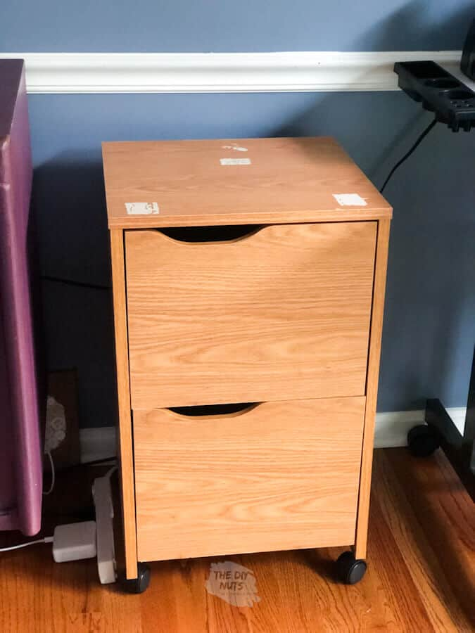 Before file cabinet makeover