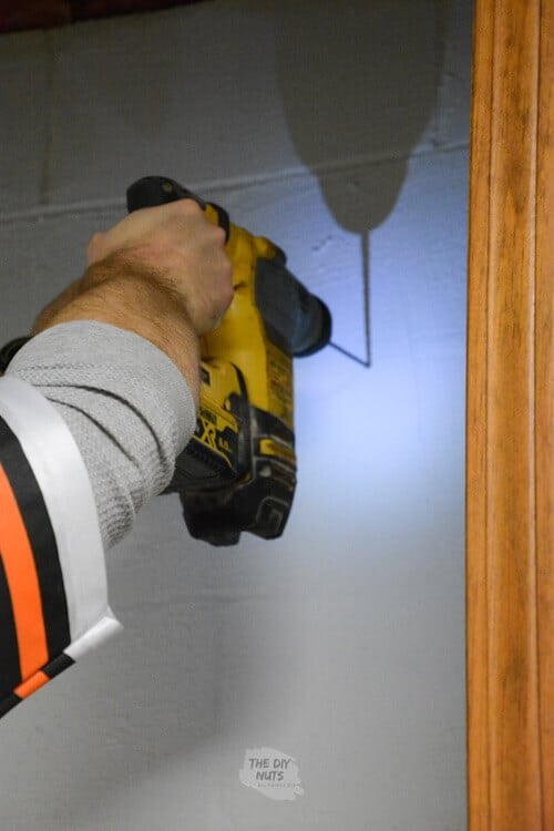 Hammer drill to add closet shelving to cinderblock wall