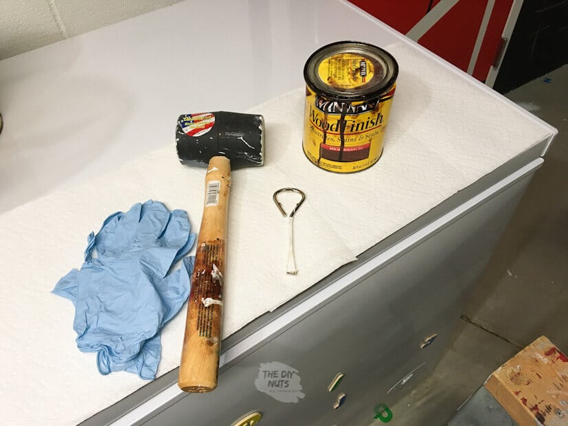 Stain supplies needed for staining poplar