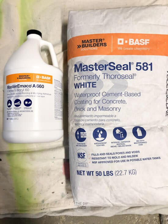 Masterseal 581 and MasterSeal Emaco A 660