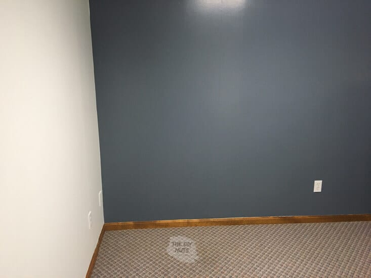 White and blue painted room